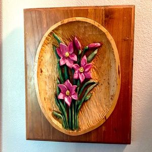 Vintage Handmade Wood Wall Art OOAK